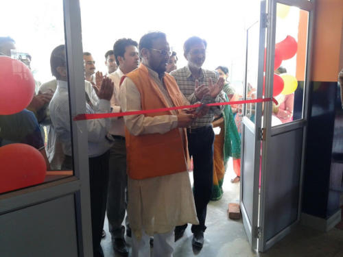 CABINET MINISTER MR .SURESH K.KHANNA@ NEW BLOCK INAUGURATION 01